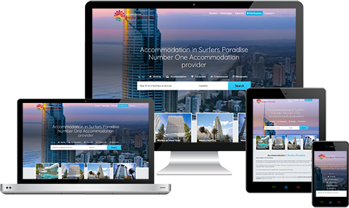 Accommodation in Surfers Paradise displayed beautifully on multiple devices